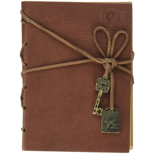 EvZ Diary String Key Retro Vintage Classic Leather Bound Notebook