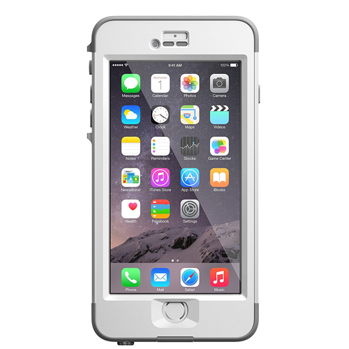 "Lifeproof iPhone 6 Plus Case(5.5"" Version) Nuud Avalanche (Bright White/ Cool Gray)"