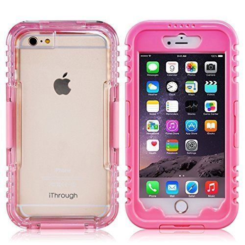 iPhone 6 Plus Waterproof Case, iThroughTM Waterproof, Dust Proof, Snow Proof, Shock Proof Case