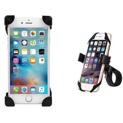 Cell Phone Holder for Bike Motorcycle Bicycle Mount Adjustable Universal for iPhone 8 7 6 6(+) 6s 6s Plus Samsung Galaxy S8 S7 S6 Nexus LG and Most Other Devices