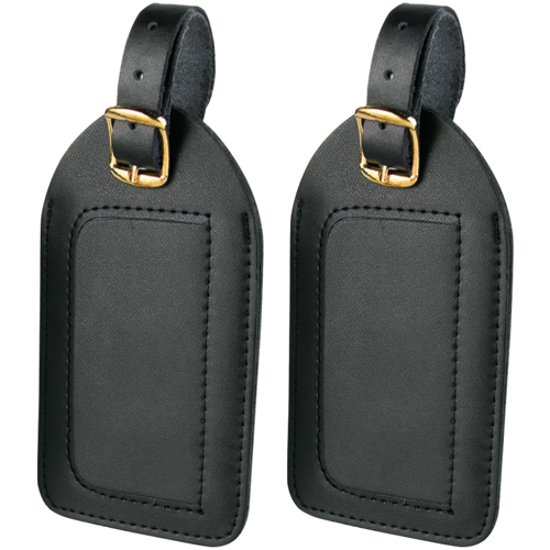 Travel Smart by Conair Leather Luggage Tags, 2 Pack
