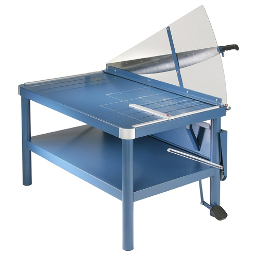 "Dahle 585 43 1/4"" Premium Large Format Guillotine Lever Paper Cutter, Grade: 12 to 12, 41'' Height, 29.875'' Width, 45.875'' Length"