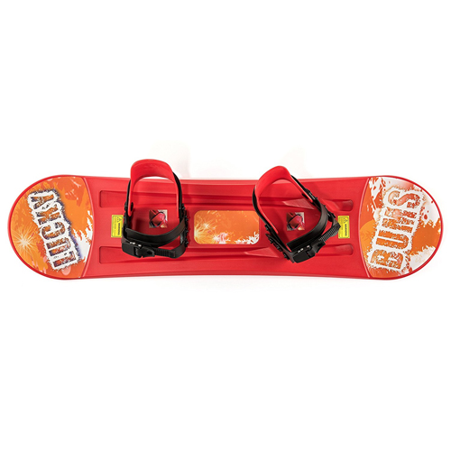 Lucky Bums Plastic Snowboard In Red