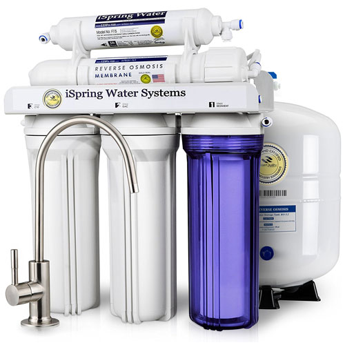 iSpring RCC7 WQA Gold 5-Stage Reverse Osmosis Drinking Water Filter System