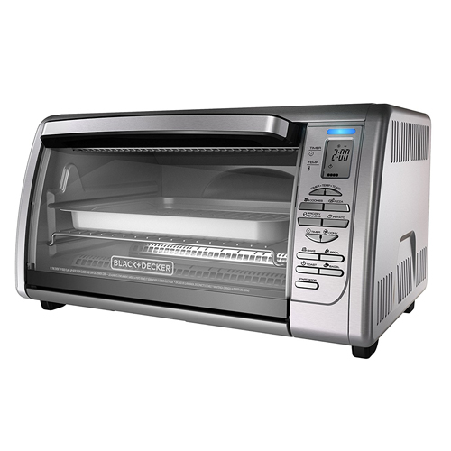 Black + Decker CT06335S Stainless Steel Countertop Convection Oven, Silver