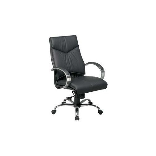 Office Star 8201 Deluxe Medium Back Executive Leather Chair