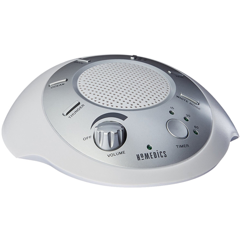 HoMedics SS-2000G/F-AMZ Sound Spa Relaxation Machine with 6 Nature Sounds, Silver