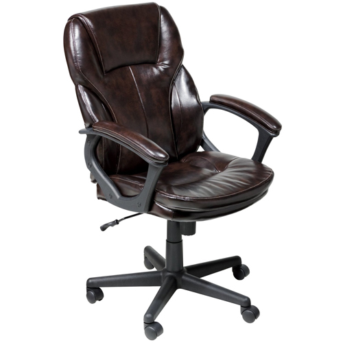 Serta 43669 Faux Leather Executive Chair, Roasted Chestnut
