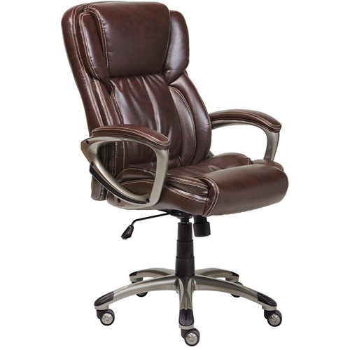 Serta 43520 Bonded Leather Executive Chair, Brown