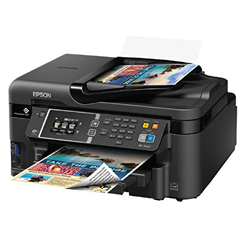 Epson WorkForce WF-3620 WiFi Direct All-in-One Color Inkjet Printer