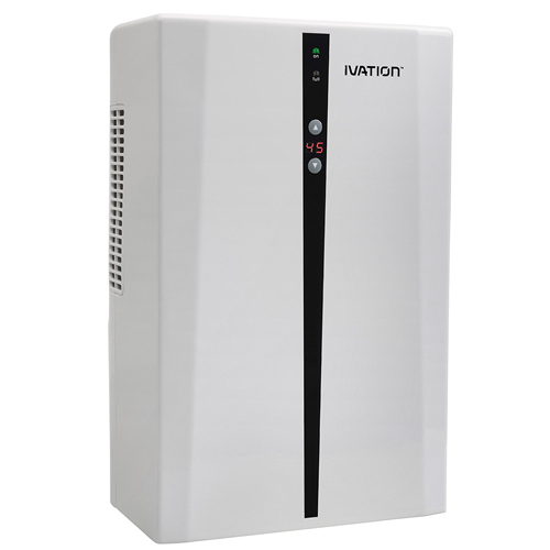 Ivation IVADM45 Powerful Mid-Size Thermo-Electric Intelligent Dehumidifier w/Auto Humidistat