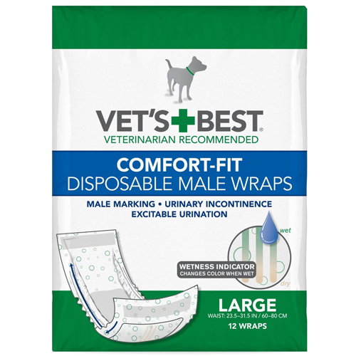 Vet's Best Comfort-Fit Disposable Male Wrap
