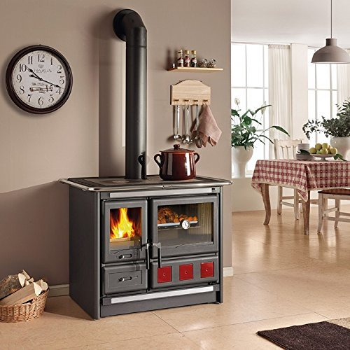 """Wood Burning Cook Stove La Nordica """"Rosa XXL,"""" with Baking Oven"""