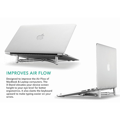 Steklo - X-Stand for MacBook and PC Laptop Cooling Universal Stand