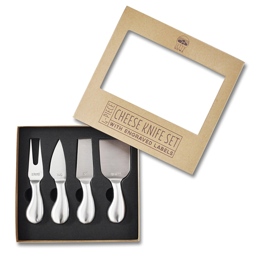 4-Piece Stainless Steel Cheese Knife