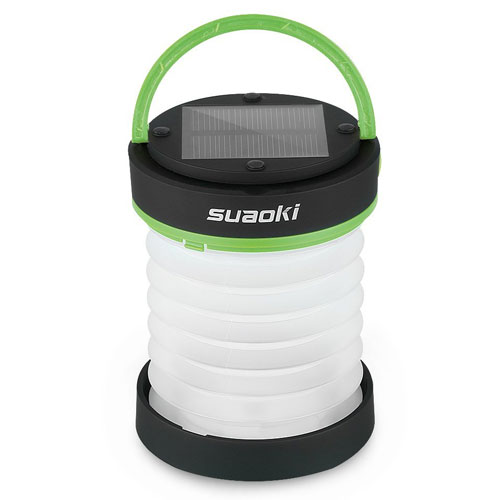Suaoki Led Camping Solar Powered Lantern/Light with Rechargeable Battery