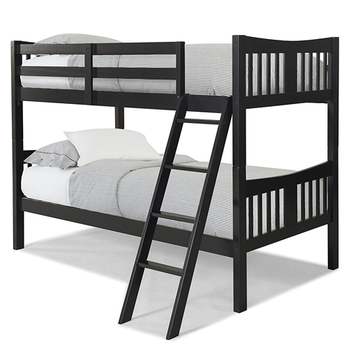 Stork Craft Caribou Bunk Bed, Twin, Black