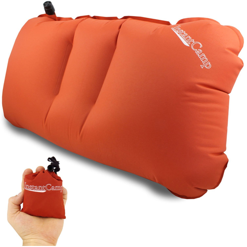Lightweight 2.0 oz. Inflatable, Compressible Travel Air Pillow