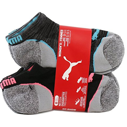 The Puma Women's Non Terry No Show Low Cut Athletic Sport Sock 6-Pack