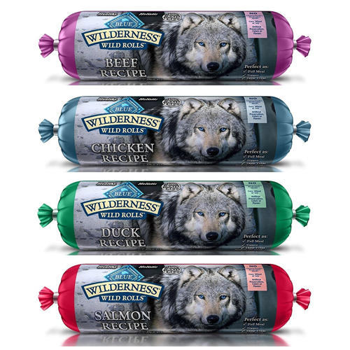 BLUE WILDERNESS WET DOG FOOD ROLLS NATURAL HEALTHY HOLISITC GRAIN FREE