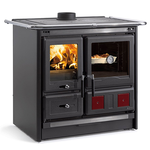 """Wood Burning Cook Stove La Nordica """"Rosa L,"""" with Baking Oven"""