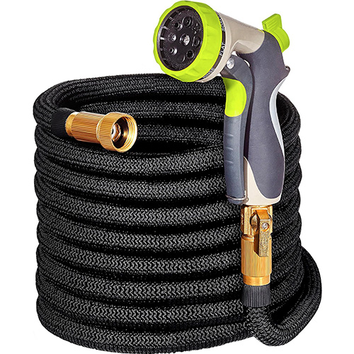 50ft Garden Hose Expandable Water Hose Solid Brass by Hospaip