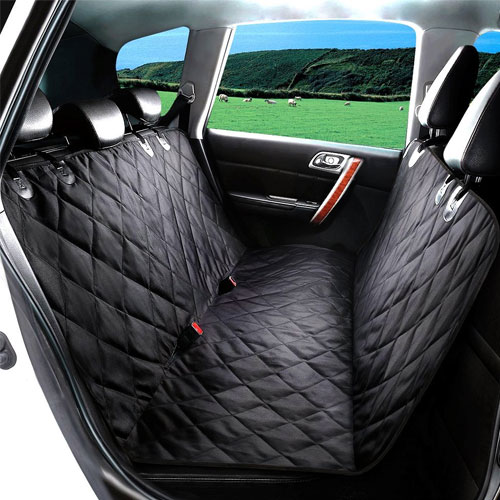 TIOVERY Dog Seat Cover, Pet Car Seat Covers with Anchors