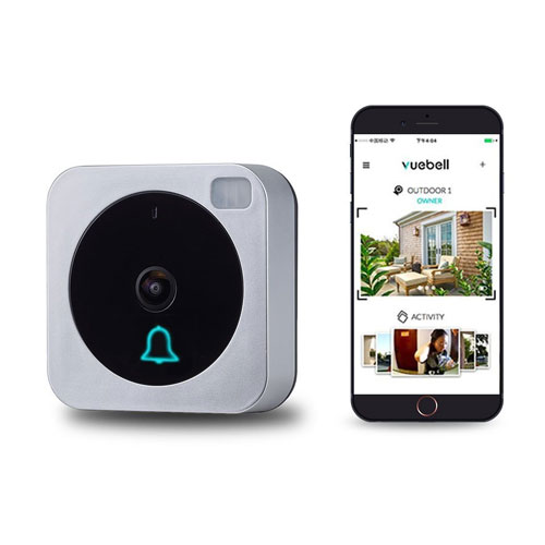 Wifi Video Doorbell, Works with Alexa Echo Show, Netvue Vuebell Doorbell Camera 720P HD Cam, Cloud Storage, Two-Way Audio, Smart Motion Detection, Infrared Night Vision AC 8-24V DC 9-36V (Hard Wire version)