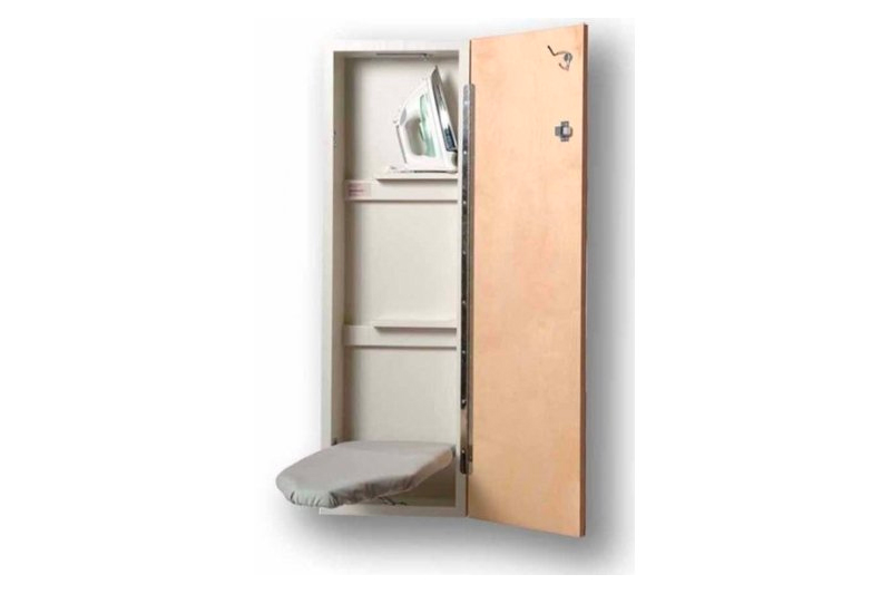 Iron-A-Way NE-342 42 inch built in wall mounted ironing Center with Flat Birch Door