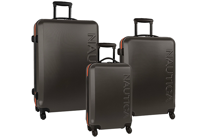 Nautica Luggage Ahoy 3 Piece Hardside Spinner Outer Shell Set