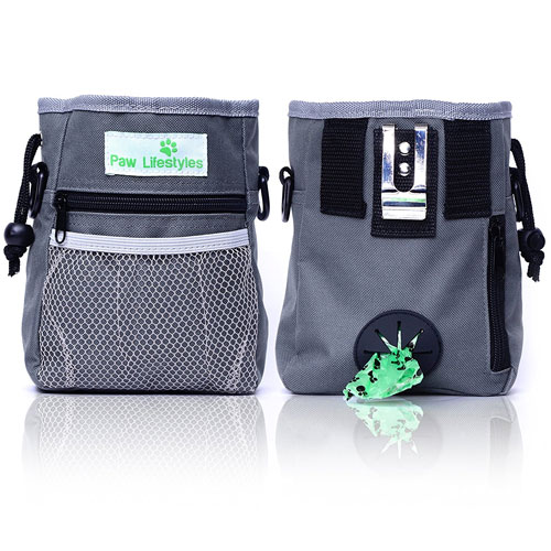 Paw Lifestyles – Dog Treat Training Pouch – Easily Carries Pet Toys, Kibble, Treats Carrier