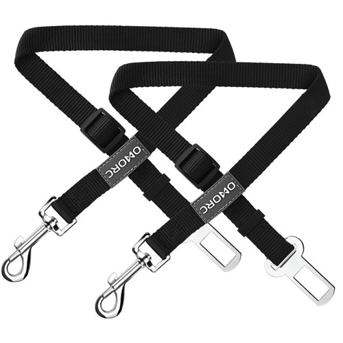 OMorc Dog Seat Belt -2 Pack, Nylon Car Leash For Dog/Cat, Safety Leads Vehicle
