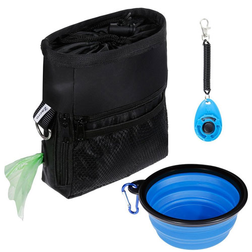 Zacro Dog Treat Training Pouch Bag Suit, including Adjustable Waist Belt Carrier