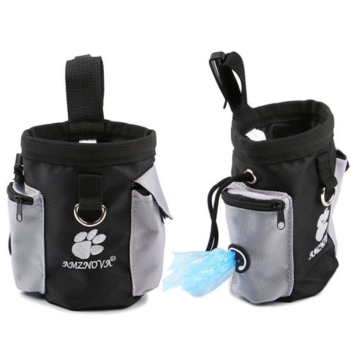 AMZNOVA Dog Treat Bag, Puppy Training Pouch Pet Small Dog Bait Holder