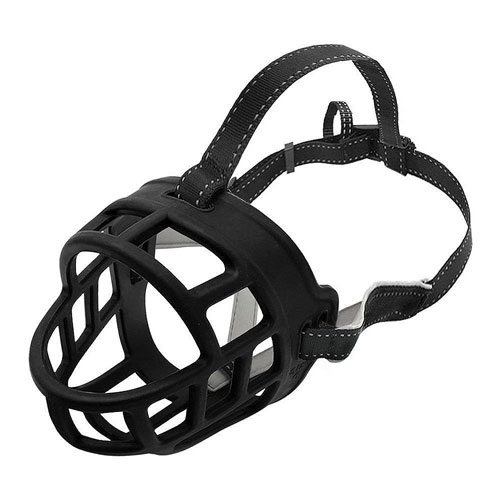 Dog Muzzle, Basket Silicone Muzzle Controls Barking, Biting and Chewing, Available in 6 Sizes