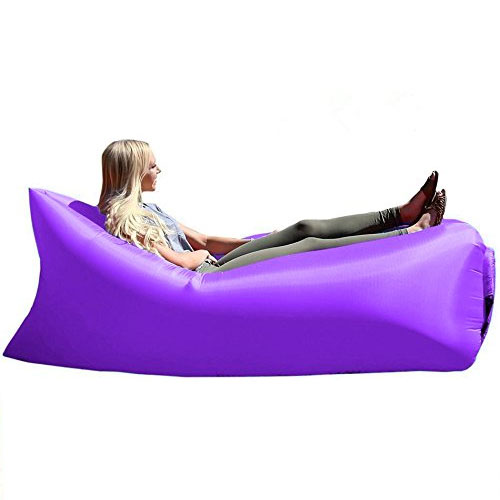 Inflatable Lounger With Travel Bag, Perfect for Indoor or Outdoor Hangout