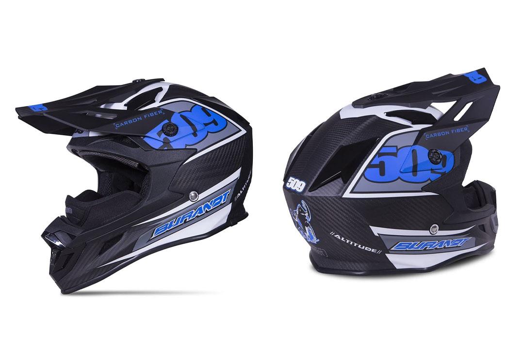 509 Altitude Carbon Fiber Chris Burandt Snowmobile Helmet