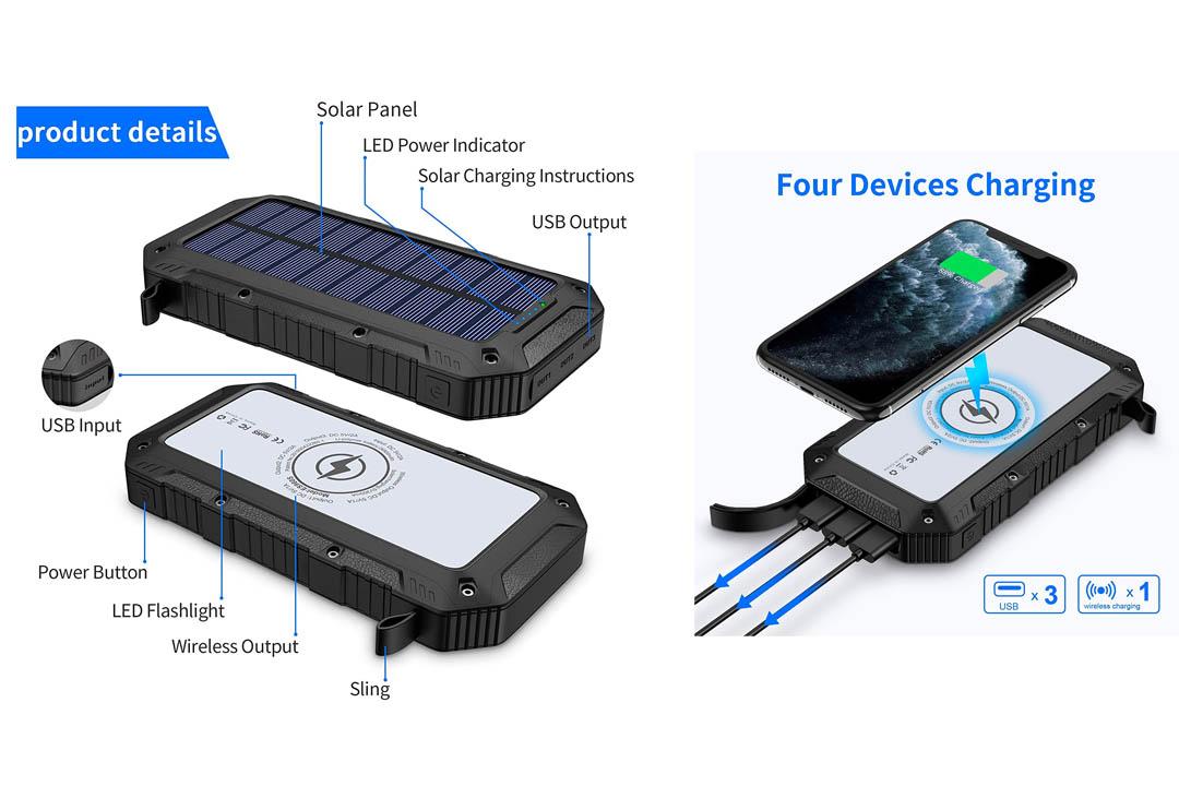 Anker 21W Dual USB Solar Charger, PowerPort Solar