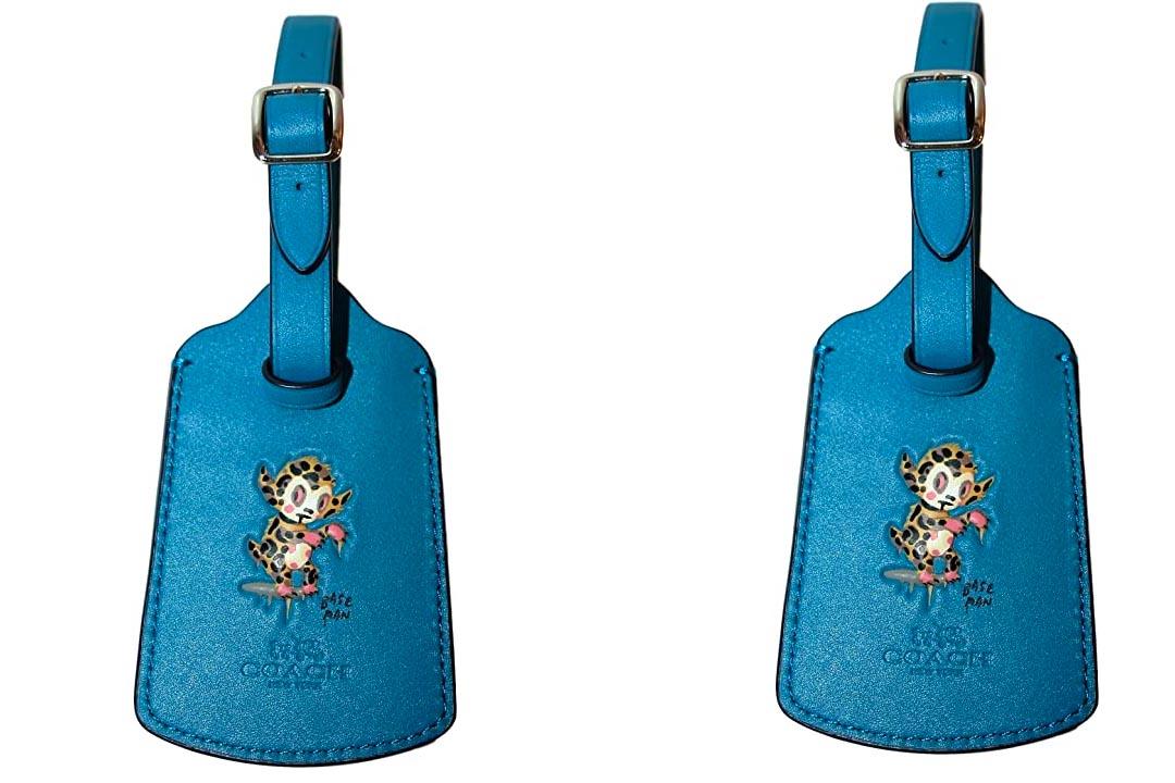 COACH GARY BASEMAN Buster Le Fauve Luggage Tag Blue