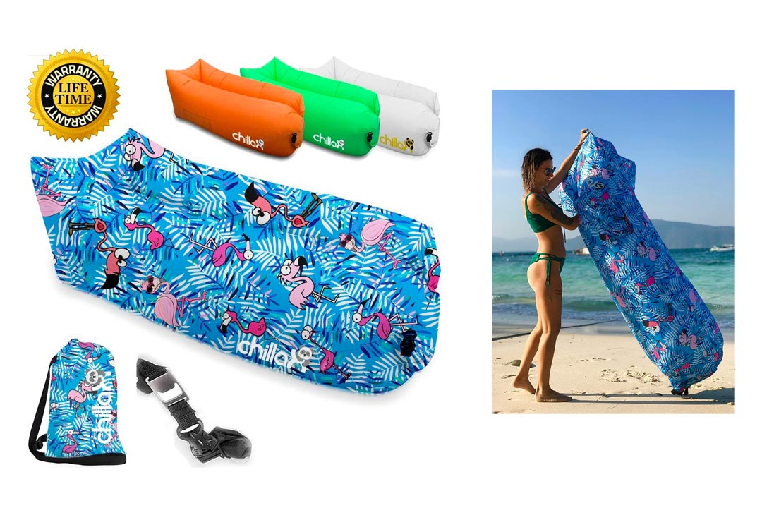 ChillaX Inflatable Lounger - Best Air Lounger - Ideal Inflatable Couch for Pool and Beach Parties