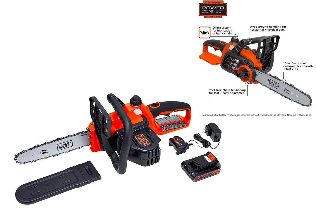 DECKER LCS1020 20V MAX Lithium-Ion Chainsaw