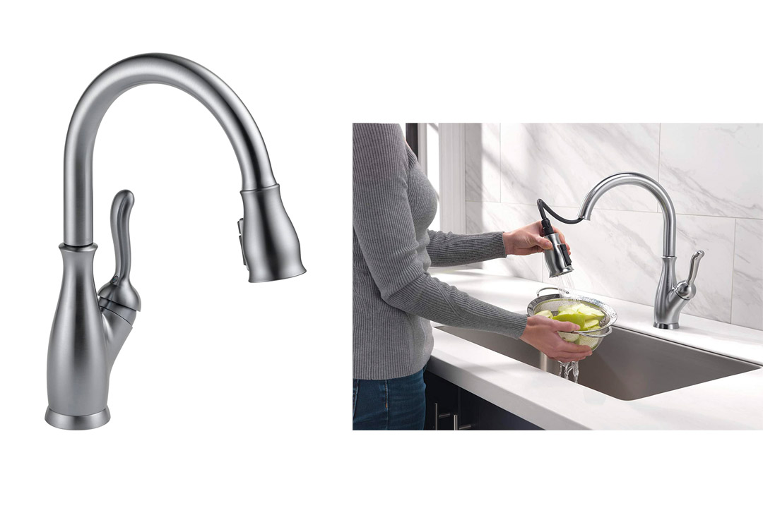 Delta 9178-AR-DST Leland Single Handle Pull-Down Kitchen Faucet