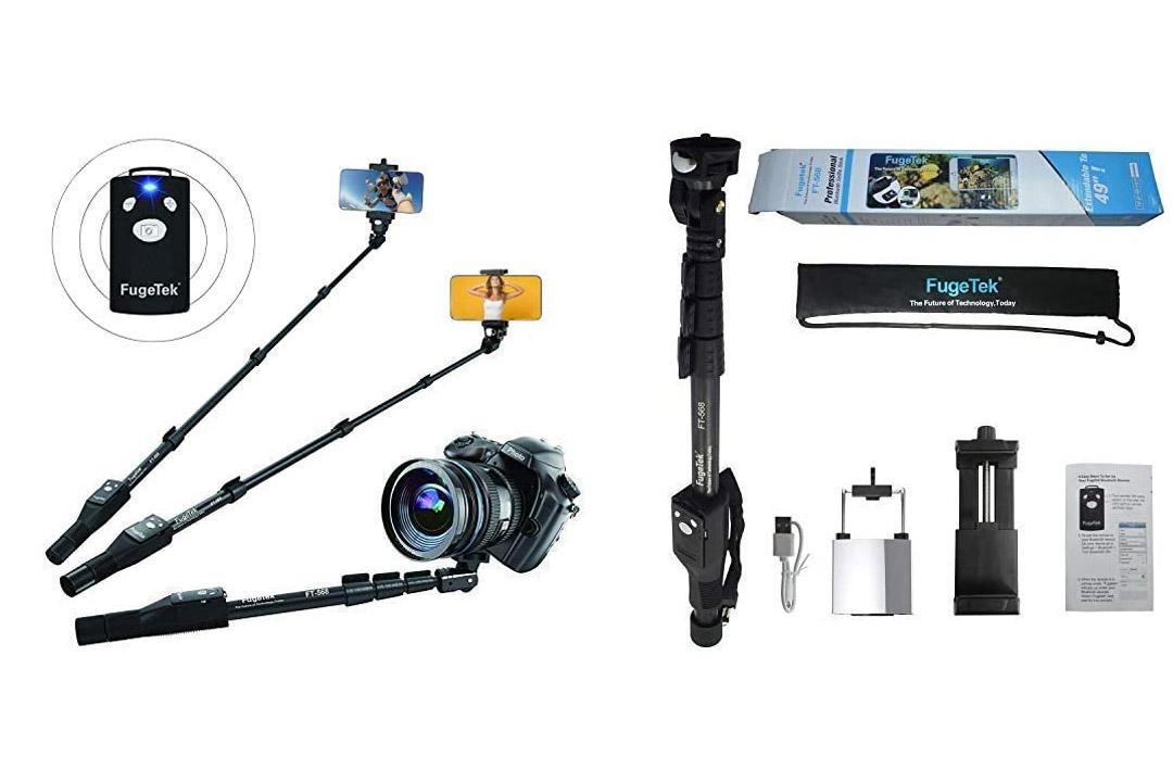 Fugetek FT-568 Professional High End Alloy Selfie Stick, Bluetooth Remote