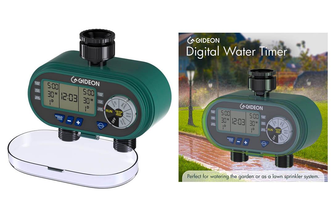 Gideon Dual-valve Hose Irrigation Water Timer Sprinkler System