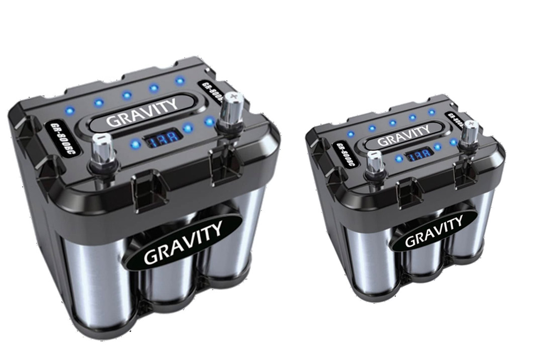 Gravity 800 amp car battery capacitor