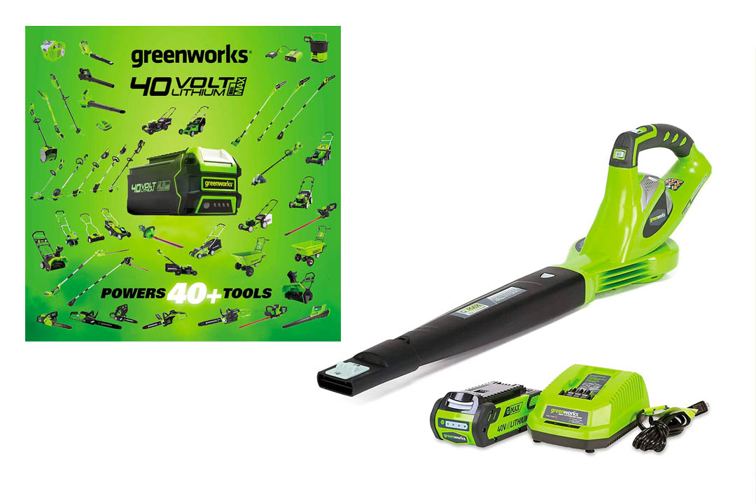 GreenWorks 24252 G-MAX 40V 150 MPH Variable Speed Cordless Blower