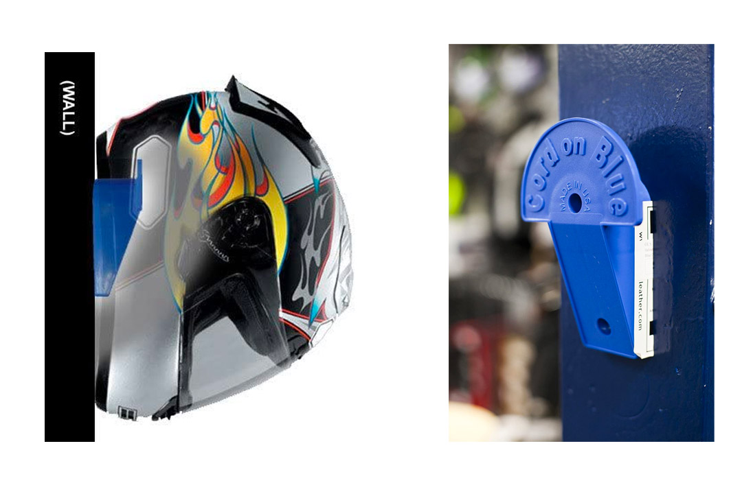 Helmet Hitch - Helmet and Cord Storage (Black)