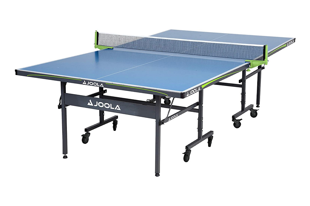 JOOLA Outdoor Aluminum Table Tennis Table with Weatherproof Net Set