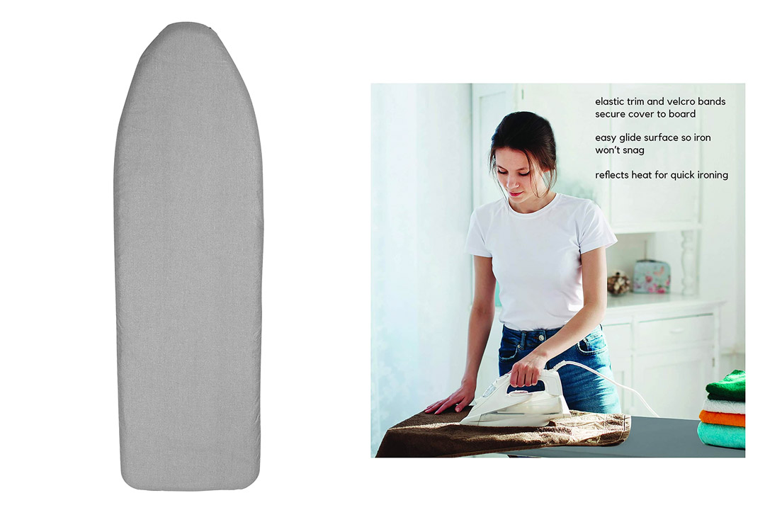 """Kennedy Home Collection 2452 Scorch Resistant Silicone Coated Ironing Board Padded Cover-15"""" x 54"""""""