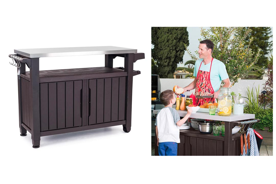 Keter Unity XL Indoor Outdoor Entertainment Storage Table